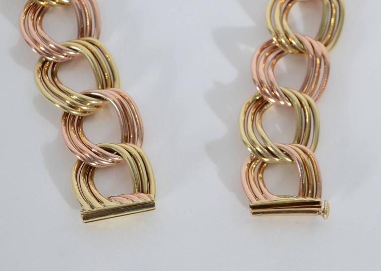 Tiffany & Co. Retro Two Color Gold Necklace 3