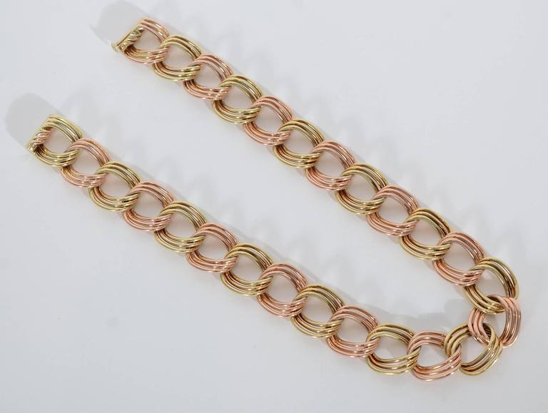 Tiffany & Co. Retro Two Color Gold Necklace 4