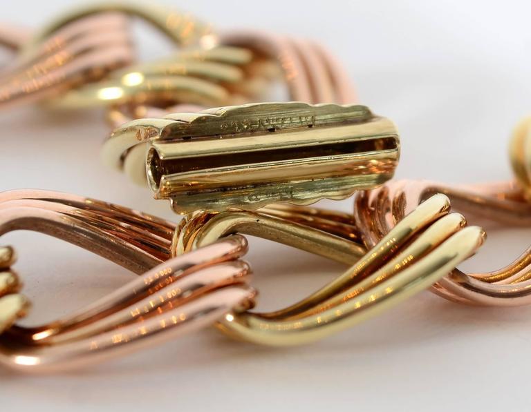 Tiffany & Co. Retro Two Color Gold Necklace 5