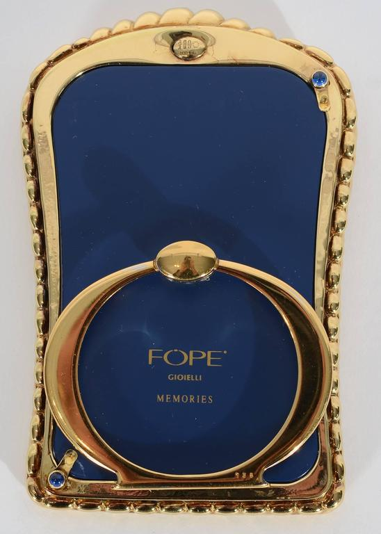 Fope Gioielli Elegant Gold Picture Frame In Excellent Condition For Sale In Darnestown, MD