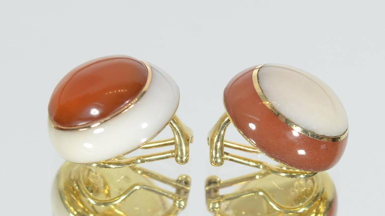 Tiffany & Co. Carnelian and White Coral Ear Clips 2