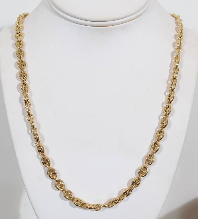 Gucci Long Gold Chain Link Necklace 2