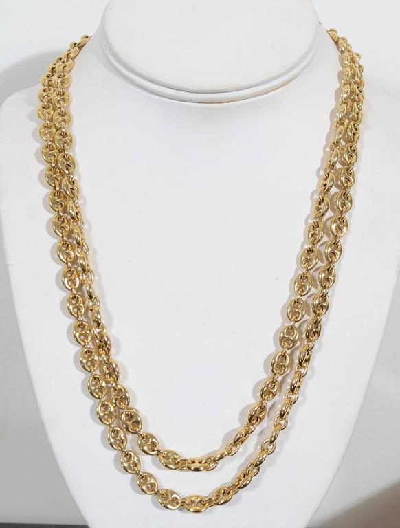 Gucci Long Gold Chain Link Necklace 3
