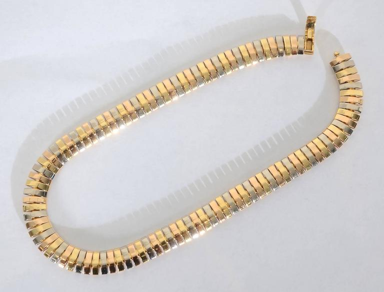 Cartier Tricolor Choker Necklace 4