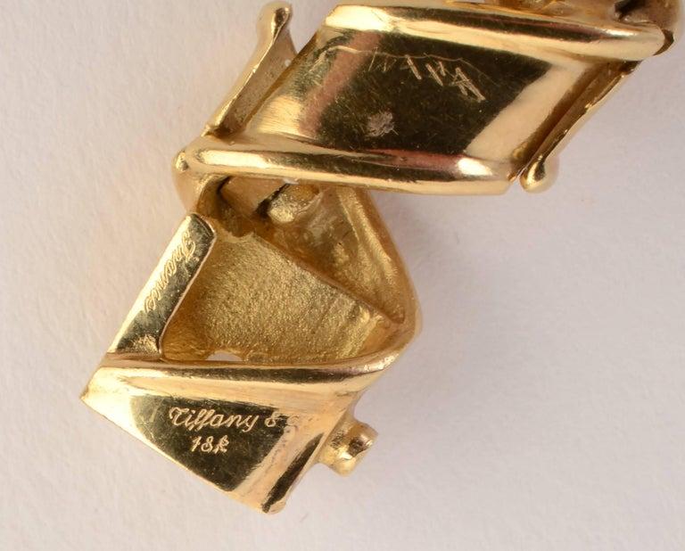 Women's Tiffany & Co. Gold Ribbon Bracelet For Sale