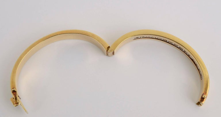 Tiffany & Co. Diamond Gold Bangle Bracelet In Excellent Condition For Sale In Darnestown, MD