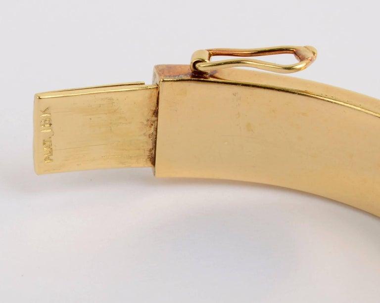 Tiffany & Co. Diamond Gold Bangle Bracelet For Sale 1