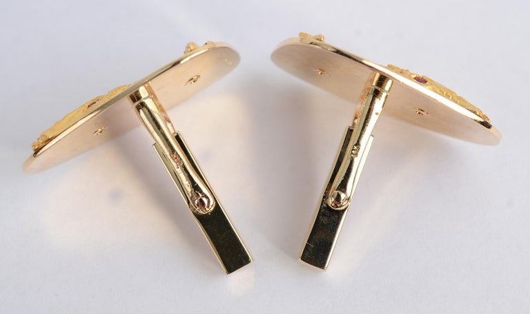 Tiffany & Co. Gold Whale Cufflinks For Sale 3