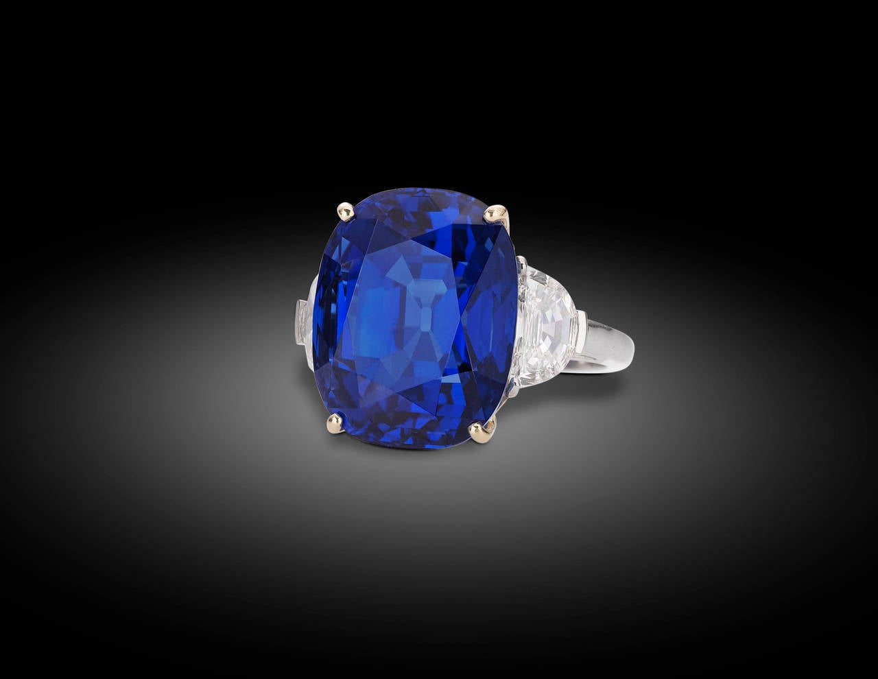 burma certified blue gold ring carat diamond products royal sapphire ssef cluster