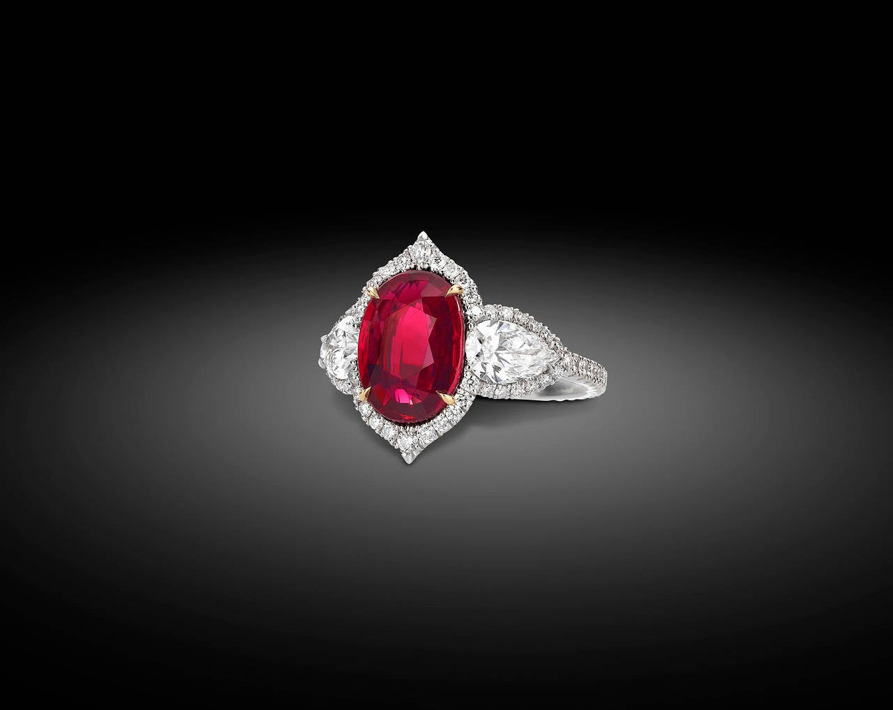Untreated Ruby and Diamond Ring 3.02 Carats 2
