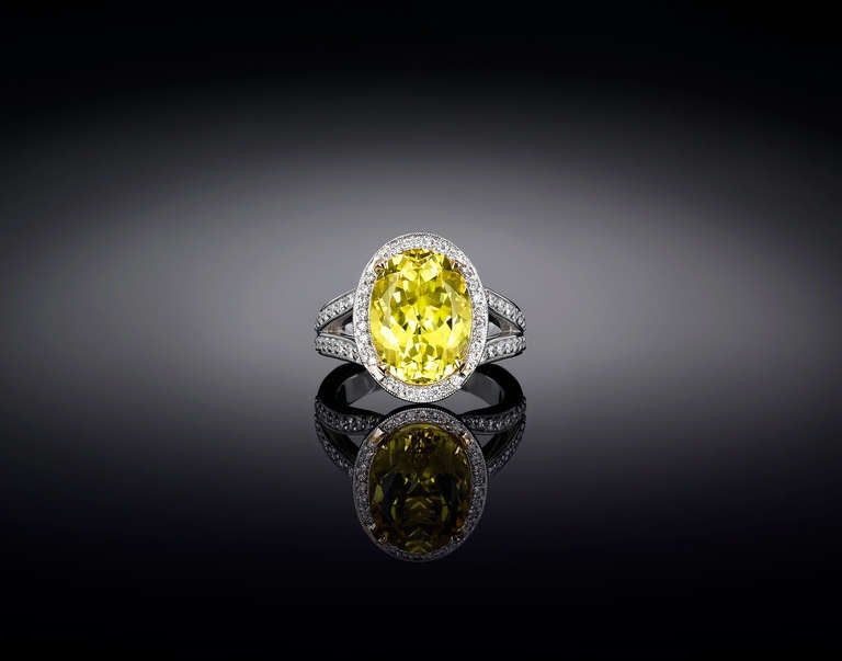 Canary Yellow Tourmaline Ring 7 11 Carats For Sale At 1stdibs