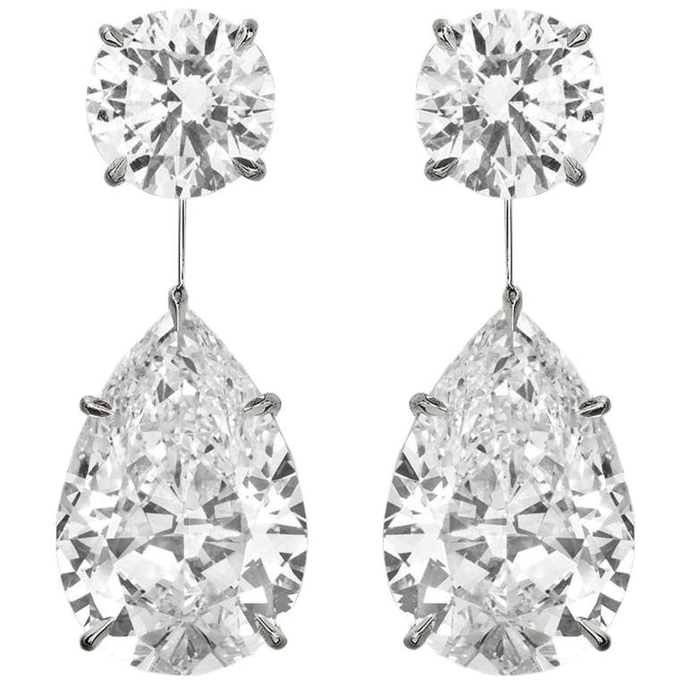 Diamond Drop Earrings For Sale