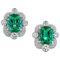 Untreated Colombian Emerald Earrings