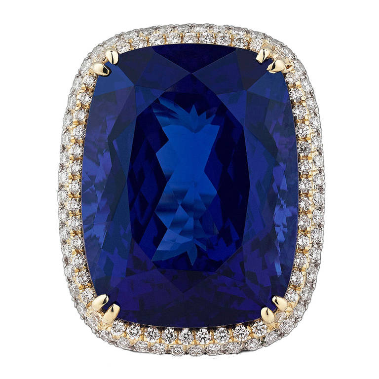 Untreated carat tanzanite diamond ring at 1stdibs for 26 carat diamond ring