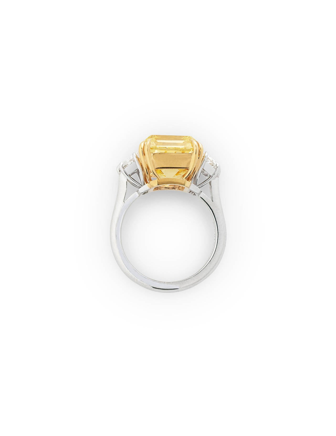 Fancy Intense Yellow 10 75 Carats Diamond Ring For Sale at 1stdibs