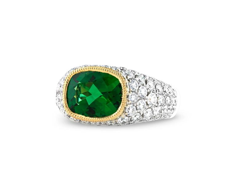Women's  2.55 Carat Chrome Tourmaline Ring For Sale
