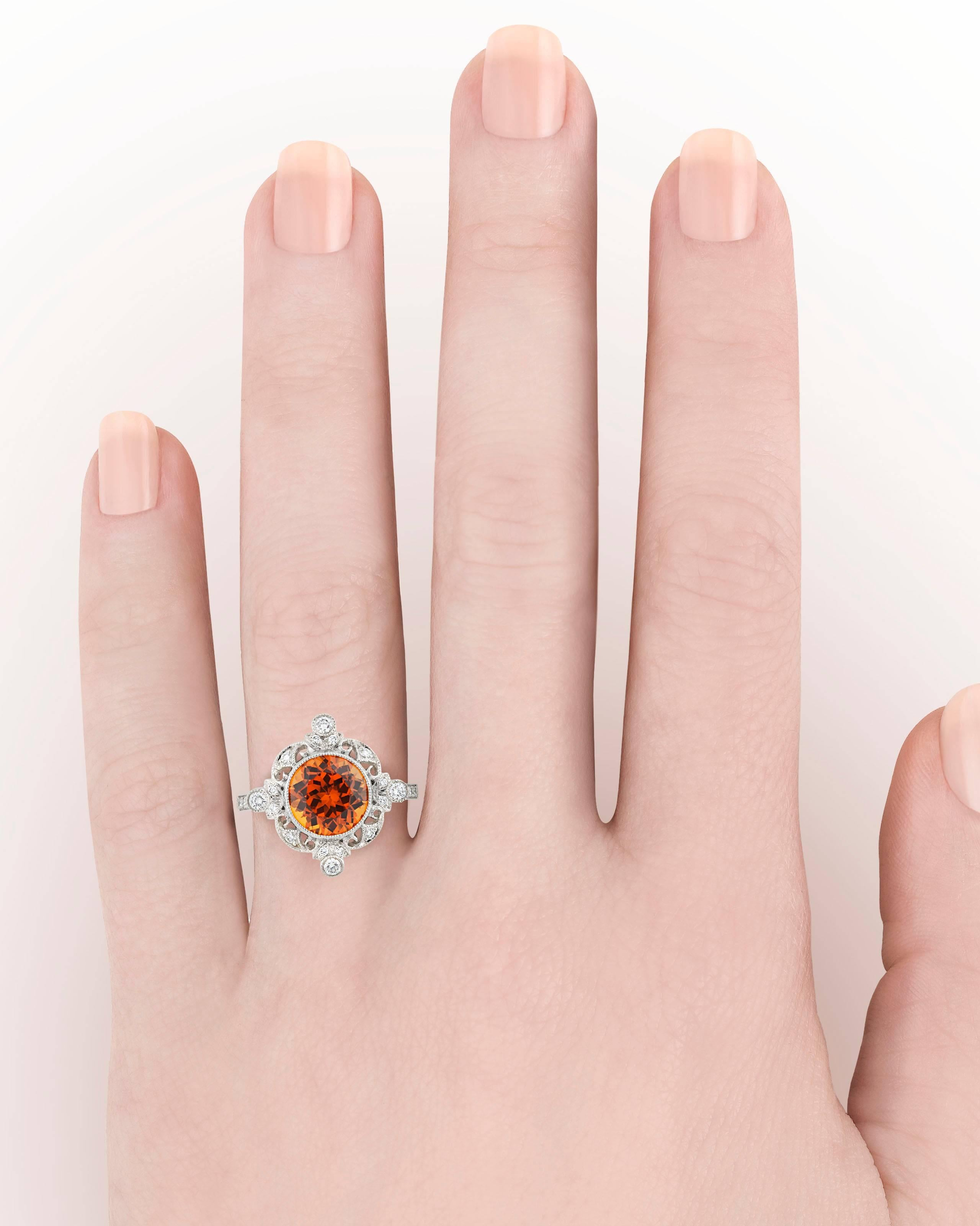 Tiffany and Co. Spessartite Garnet Ring, 3.25 Carat at 1stdibs