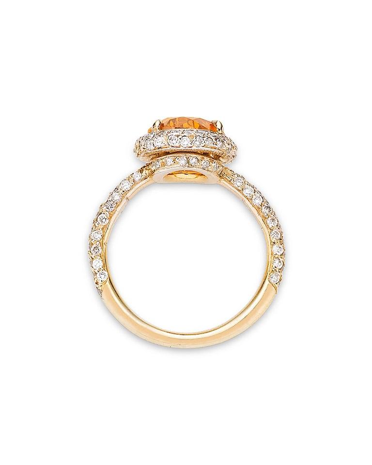GIA Report 2.34 Carat Fancy Deep Orange Diamond Ring 3