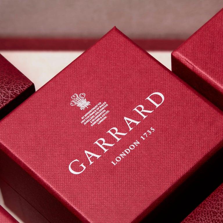 Garrard 18 karat gold Gubelin GRS GIA Pearshape Emerald & Diamond Drop Earrings For Sale 1