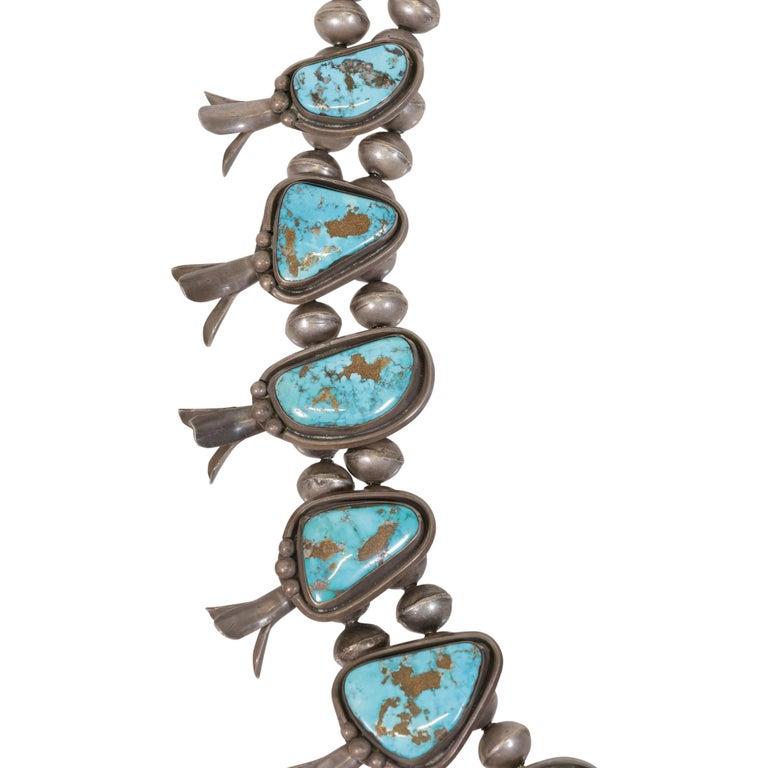 Native American Squash Blossom Necklace For Sale