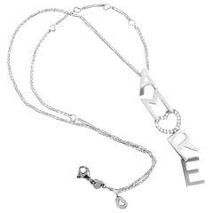 Pasquale Bruni Amore Diamond White Gold Pendant Necklace