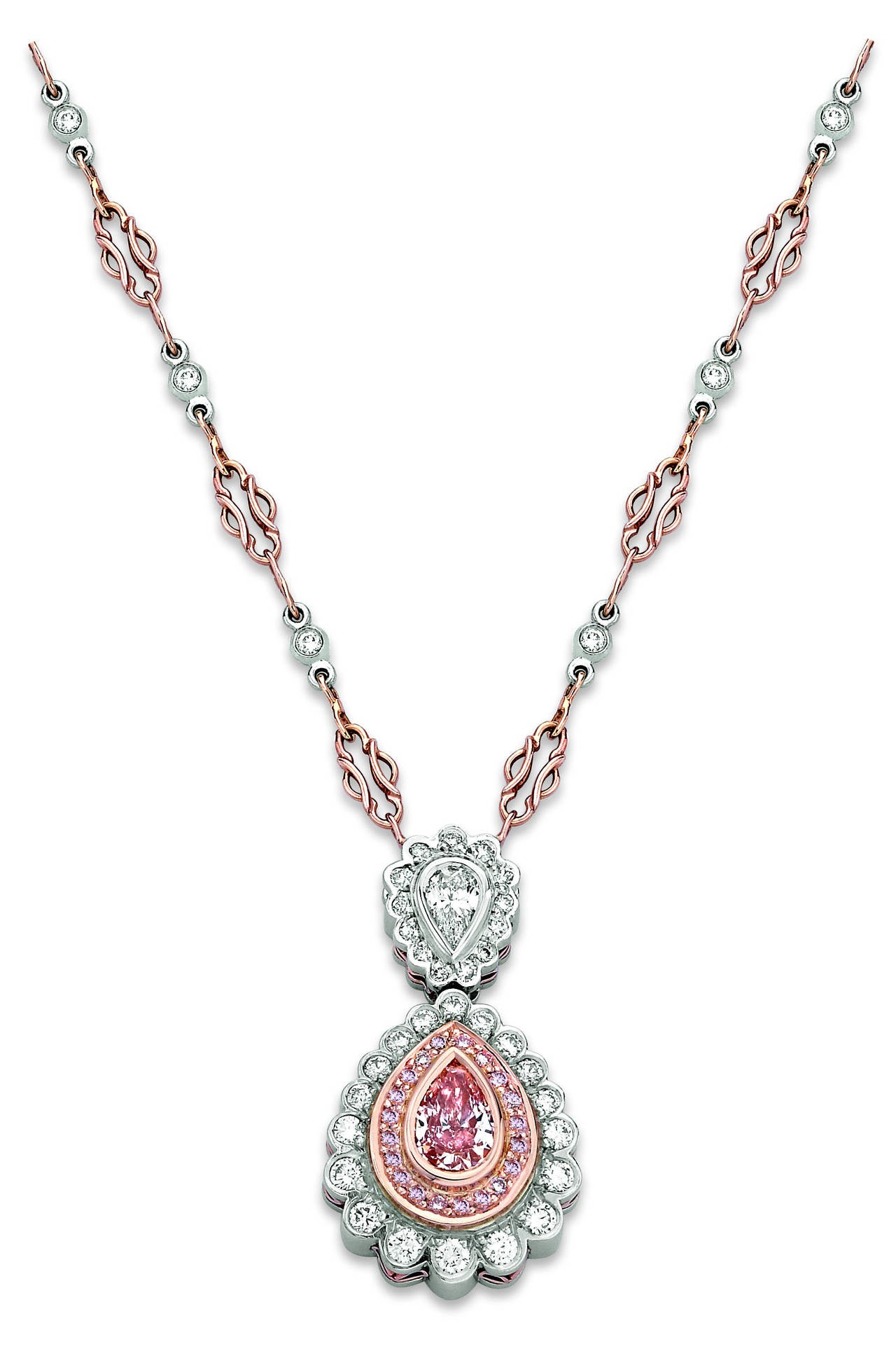 fancy pear shaped gia certified brownish pink diamond