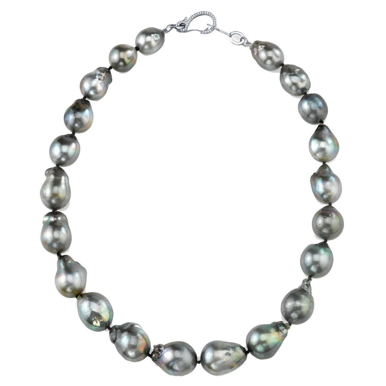 tahitian baroque pearl necklace at 1stdibs