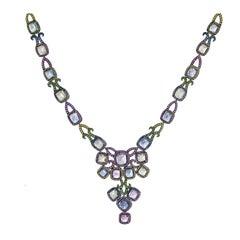 69.69 Carat Burmese Sugarloaf Sapphire Necklace