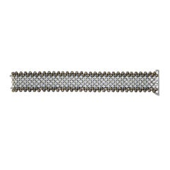 Champagne and White Diamond Wide Mesh Bracelet 17.85 Carat Diamonds