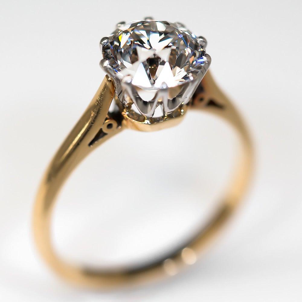 2 27 carat gold platinum antique