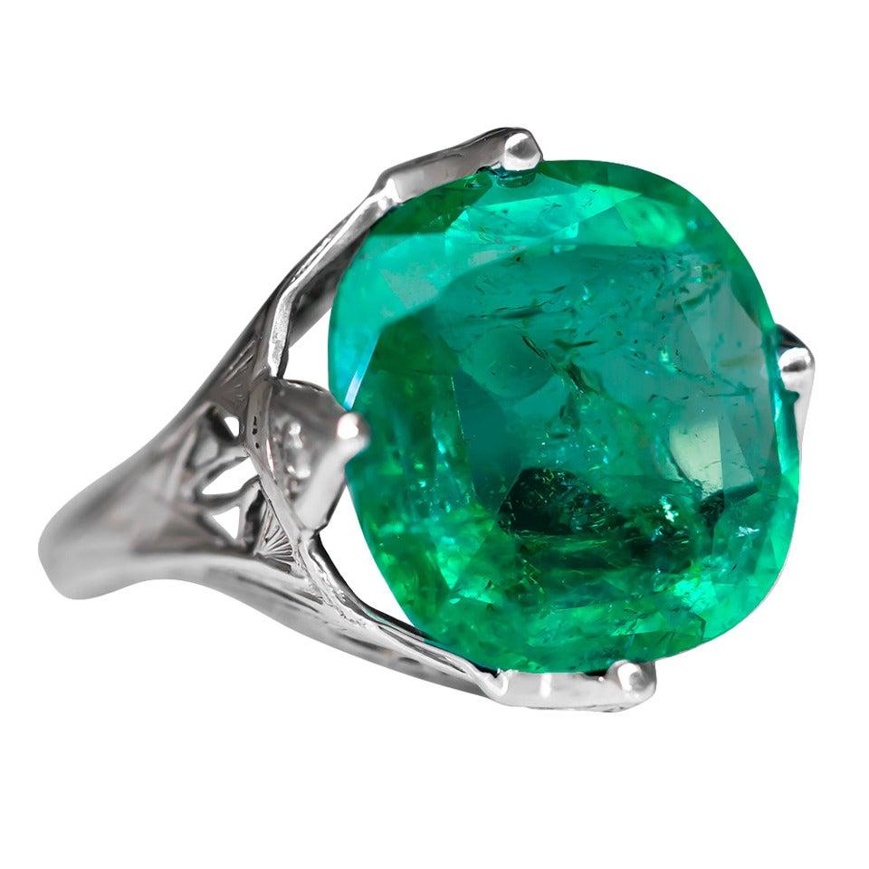 1930s 5 5 carat emerald gold ring at 1stdibs
