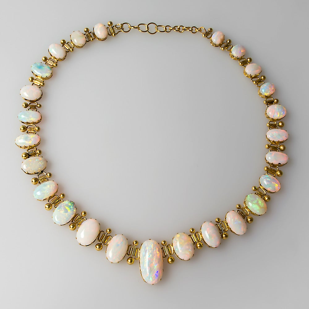 1920 s antique opal gold necklace at 1stdibs