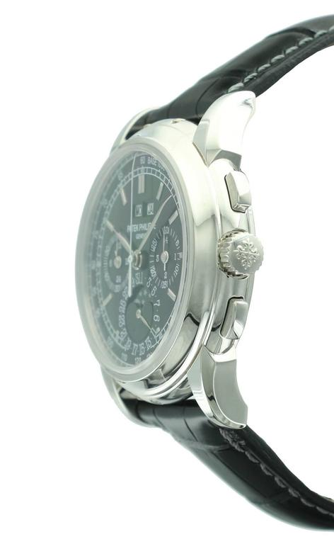 Patek Philippe Platinum Perpetual Calendar Chronograph Wristwatch Ref 5970P In As New Condition For Sale In Beverly Hills, CA