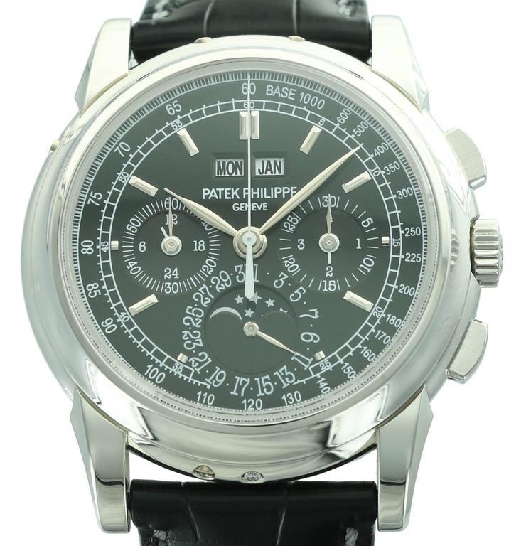Patek Philippe Platinum Perpetual Calendar Chronograph Wristwatch Ref 5970P 2