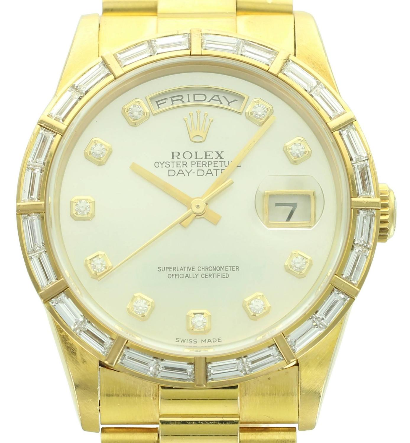Instyle Decor Com Beverly Hills Beautiful Mother Of Pearl: Rolex Yellow Gold Diamond Mother Of Pearl Day-Date