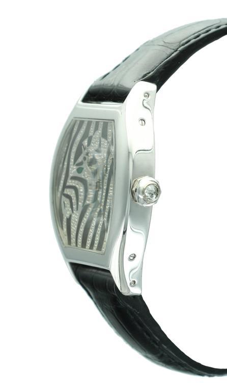 Cartier White Gold Tortue Zebra Wristwatch At 1stdibs