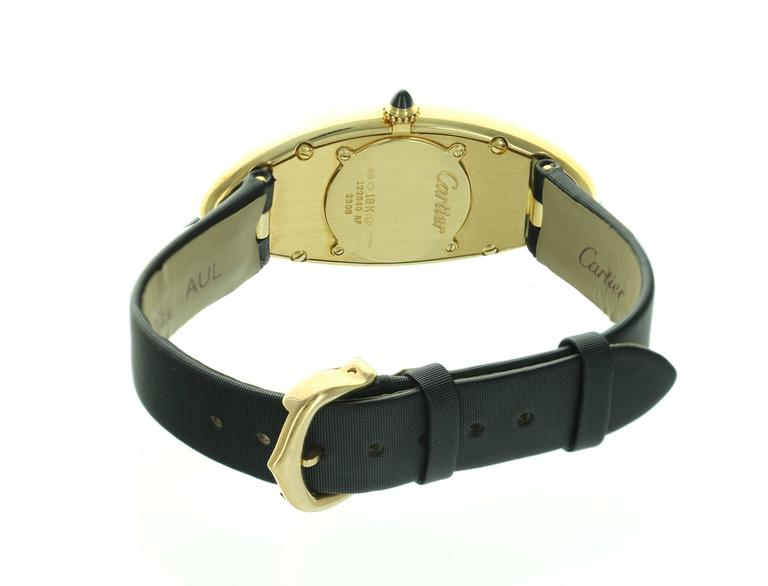 Cartier Yellow Gold Baignoire Allongee Wristwatch 3