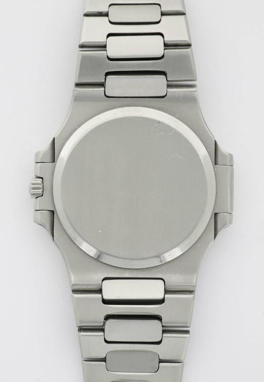 Patek Philippe Stainless Steel Nautilus Wristwatch Ref. 3700  For Sale 1