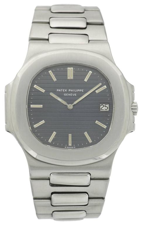 """Originally released in 1976, the Patek Philippe Nautilus was one of watchmaking's most illustrious brands first """"dive"""" into sports watches. This incredible sleek, elegant sport watch become Patek Philippe's staple sports watch, well known"""