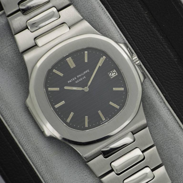 Patek Philippe Stainless Steel Nautilus Wristwatch Ref. 3700  In Excellent Condition For Sale In Beverly Hills, CA