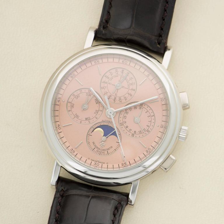 vacheron constantin platinum perpetual calendar automatic wristwatch at 1stdibs