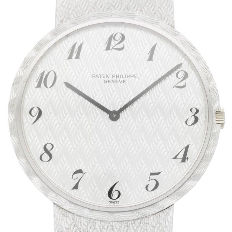 Patek Philippe White Gold Wristwatch Ref 3588, 1970s