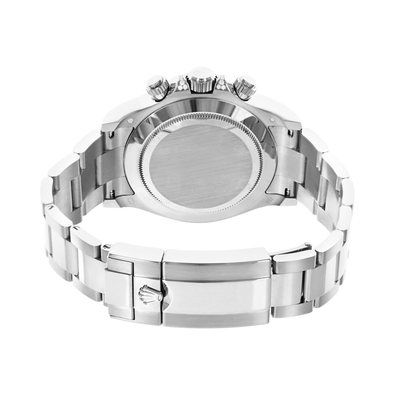 Rolex White Gold Daytona Rainbow Chronometer Wristwatch Ref 116599 4