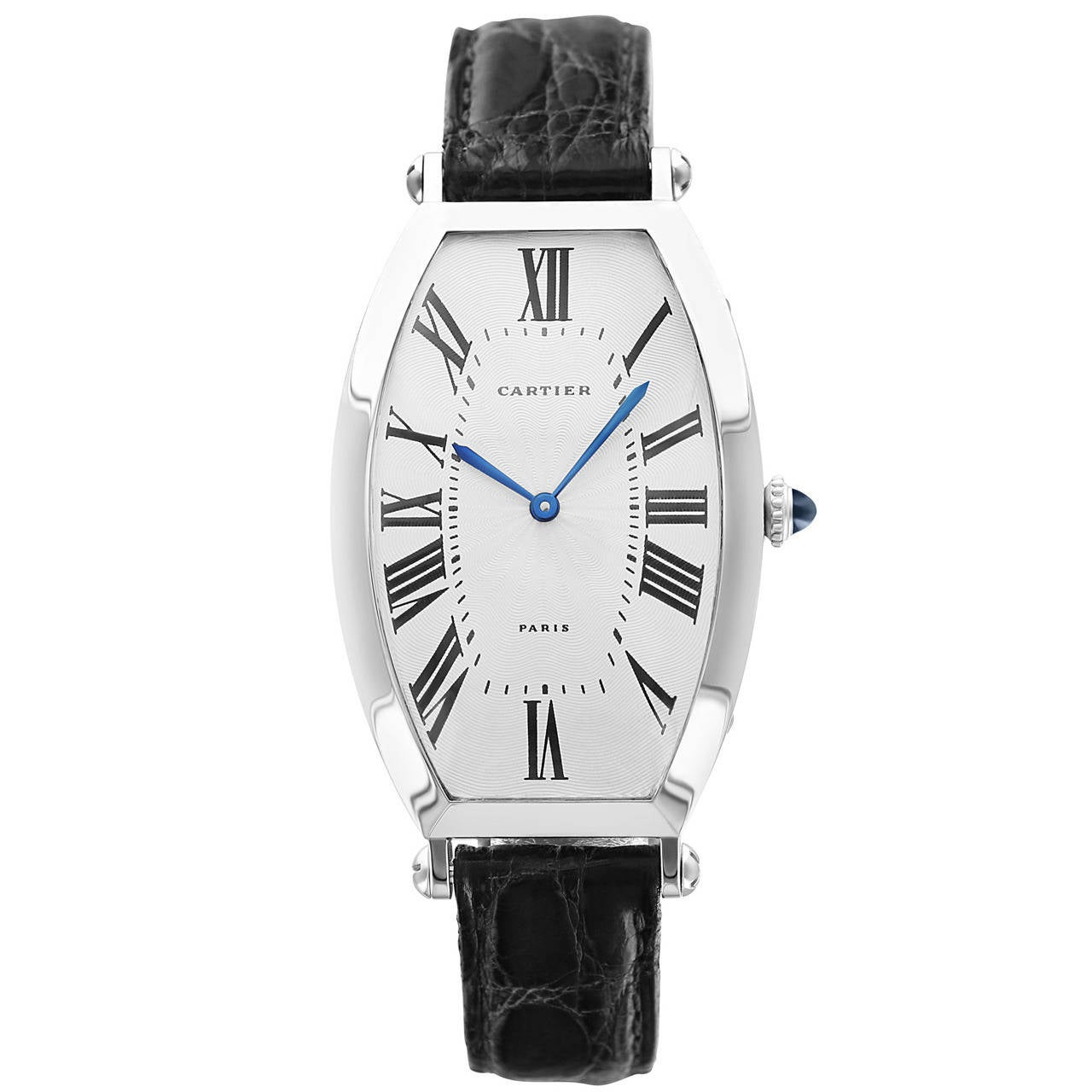 Cartier Platinum: Cartier Platinum Tonneau Wristwatch Ref 2435 At 1stdibs