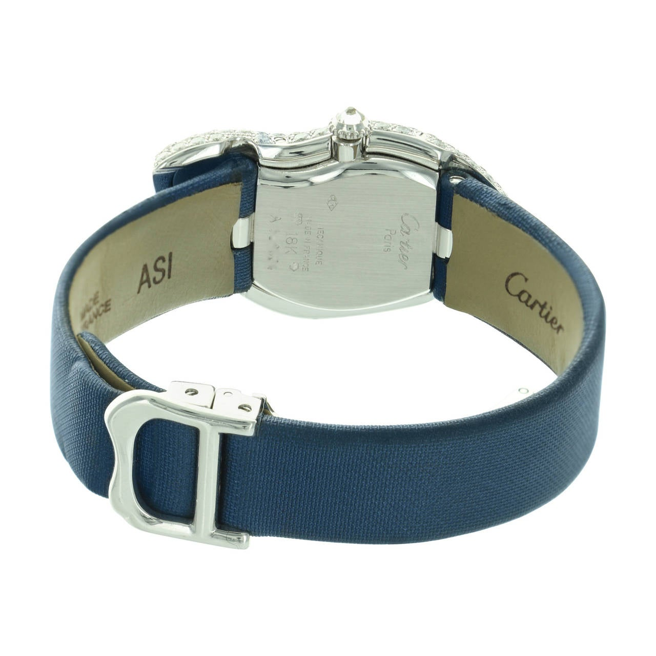 Cartier White Gold Crash Diamond Bezel Wristwatch 4