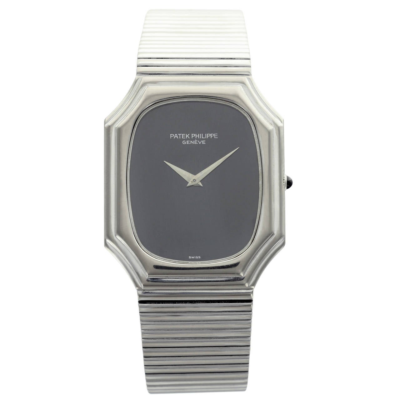 Patek Philippe White Gold Black Dial Wristwatch Ref 3729 For Sale