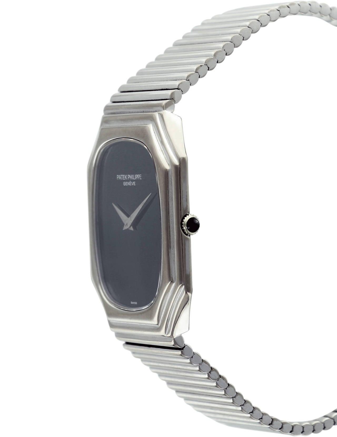Patek Philippe White Gold Black Dial Wristwatch Ref 3729 3