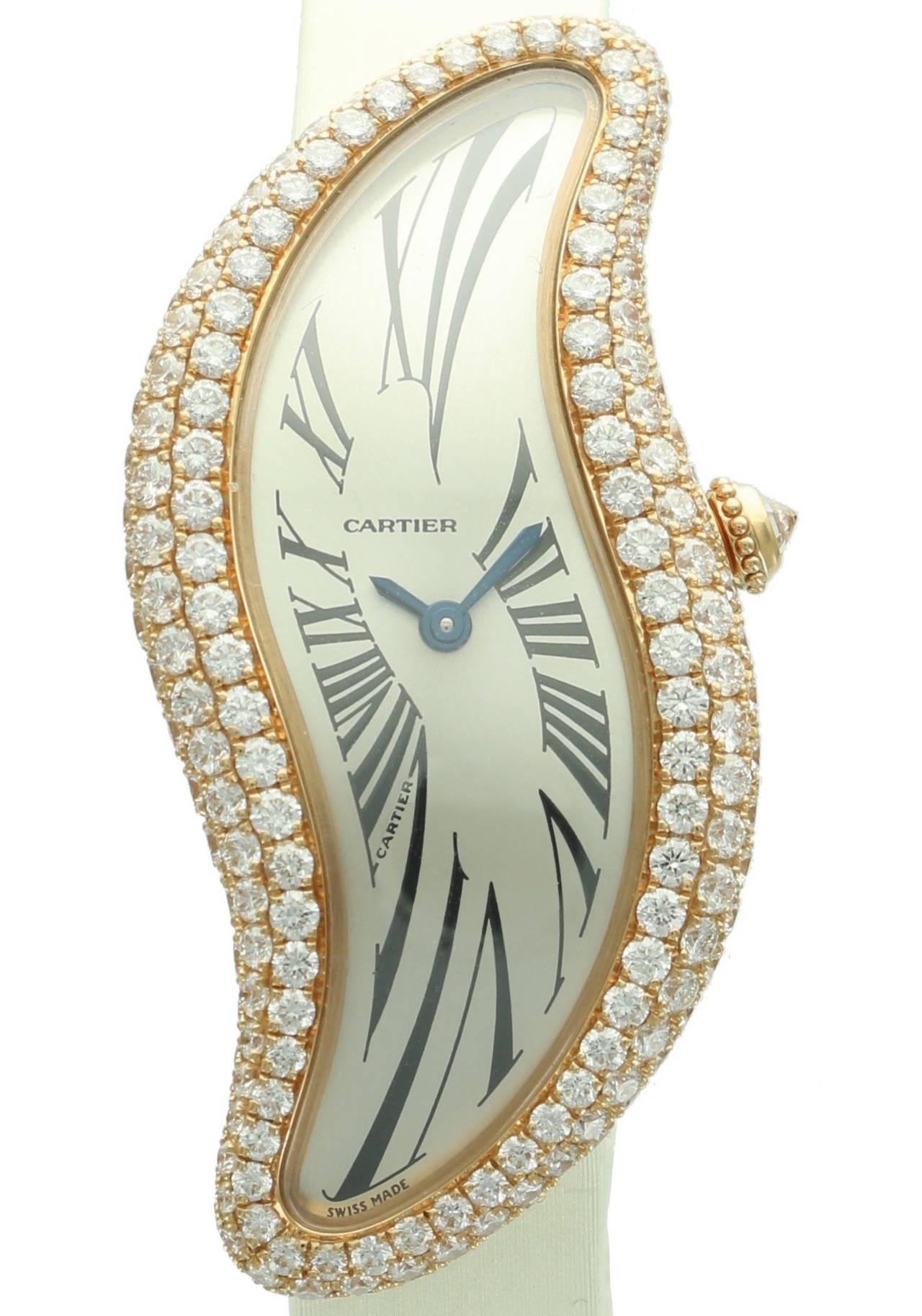 Cartier Lady's Rose Gold Baignoire Wristwatch Ref 3248 2