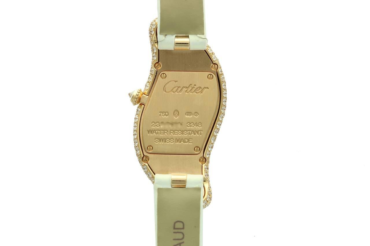 Cartier Lady's Rose Gold Baignoire Wristwatch Ref 3248 4