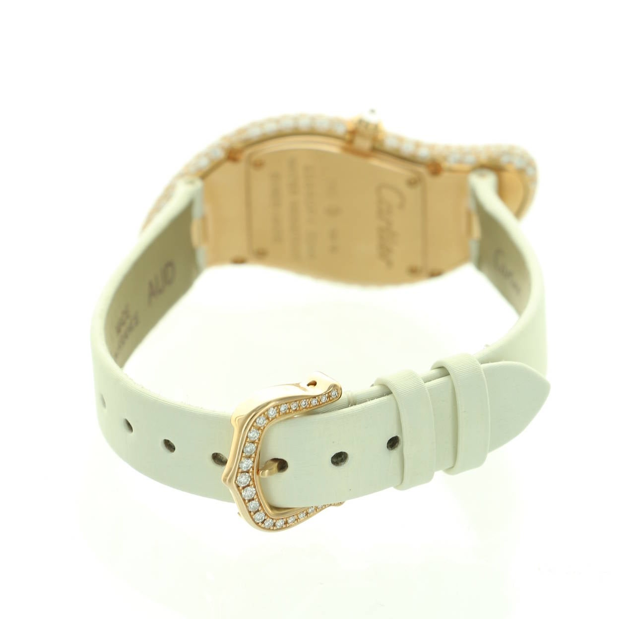 Cartier Lady's Rose Gold Baignoire Wristwatch Ref 3248 6